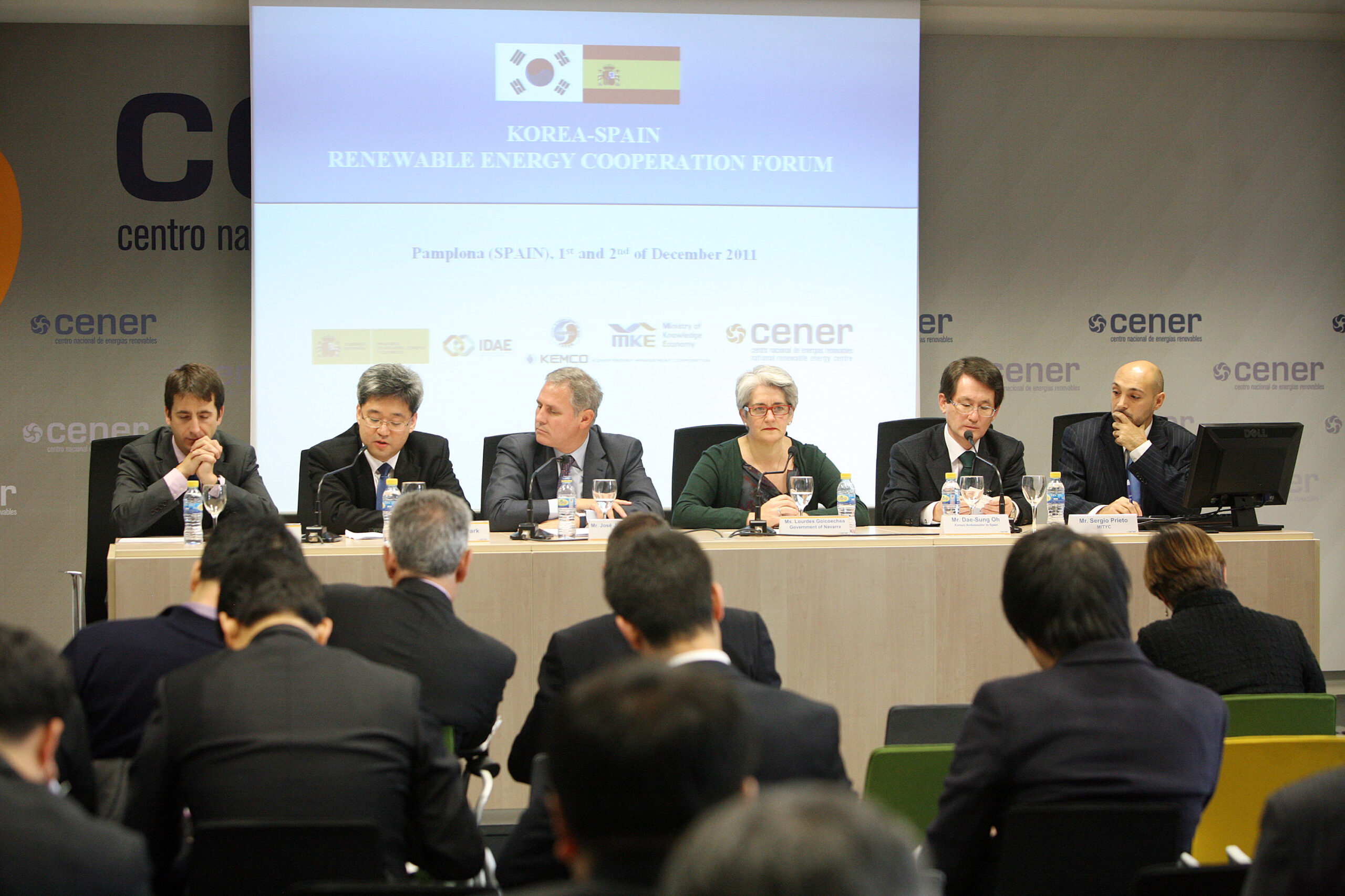 Foro de cooperación en energías renovables España- Corea en CENER (2011).