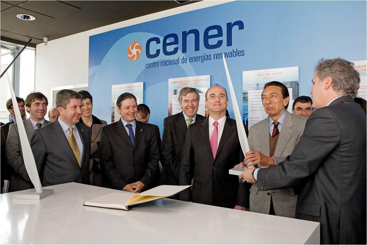 Visita del ministro de Energía y Minas de Brasil, Edison Lobao, acompañado por empresarios del sector eólico brasileño y español, y por el ministro de Industria español, Miguel Sebastián (2009).